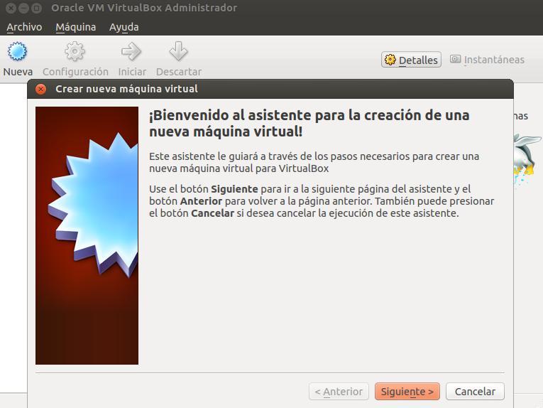 Crear máquina virtual paso 1