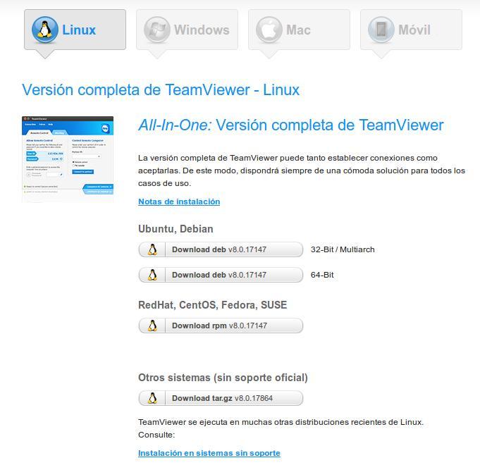 descargar teamviewer ubuntu