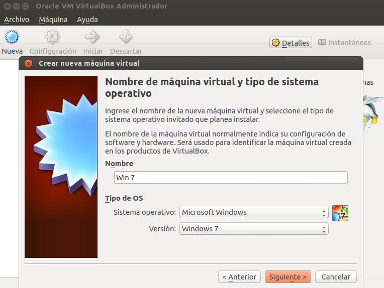 Crear máquina virtual paso 2